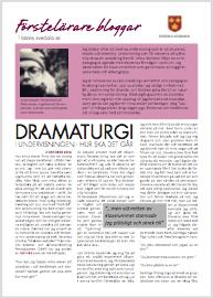 Dramaturgi i undervisningen - hur ska det gå?
