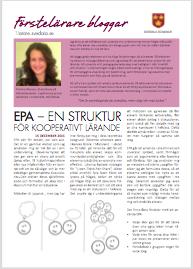 EPA - en struktur för kooperativt lärande
