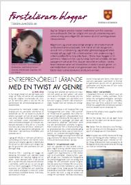 Entreprenöriellt lärande med en twist av genre
